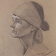 Jenny –28cm x 35cm charcoal on kraft paper