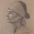 Jenny –28cm x 35cm charcoal on kraft paper
